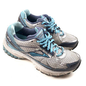 Brooks GTS13 Womens Running Shoes Teal/Silver Sz 7